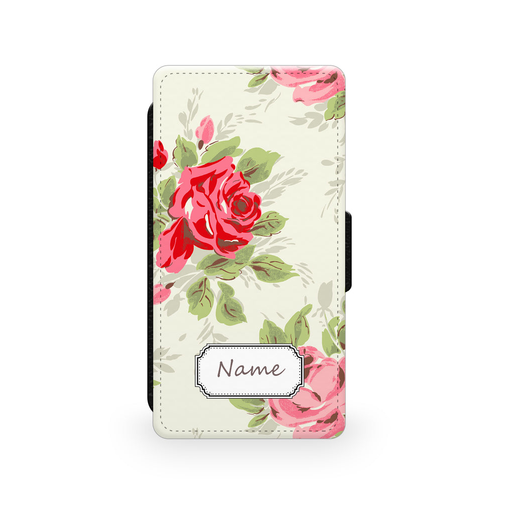 Vintage Rose - Faux Leather Case - Ai Printing