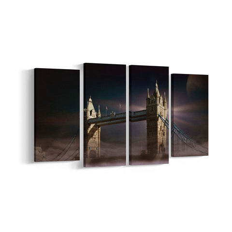 London Bridge 4 Panel Canvases - Landscape - Ai Printing