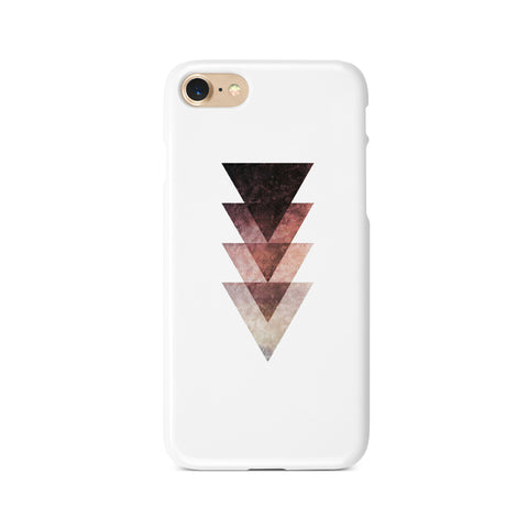 Maroon Geometric Triangles - 3D Clip Case - Ai Printing