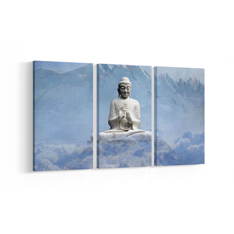 Charming Buddha 3 Panel Canvases - Landscape - Ai Printing