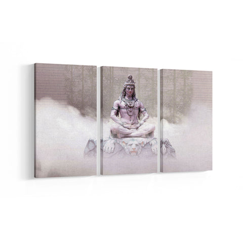Lord Siva 3 Panel Canvases - Landscape - Ai Printing