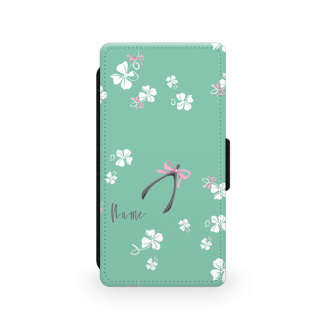 Pink Ribbons - Faux Leather Case - Ai Printing