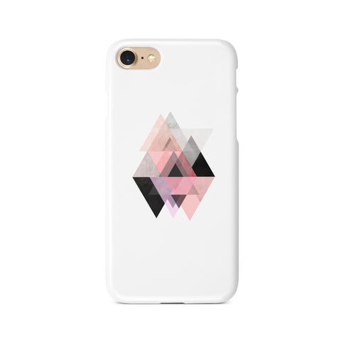 Pink Geometric Mountains - 3D Clip Case - Ai Printing