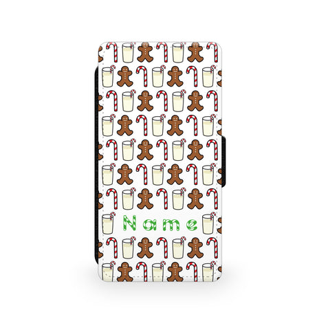 Christmas Candy Pattern - Faux Leather Case - Ai Printing