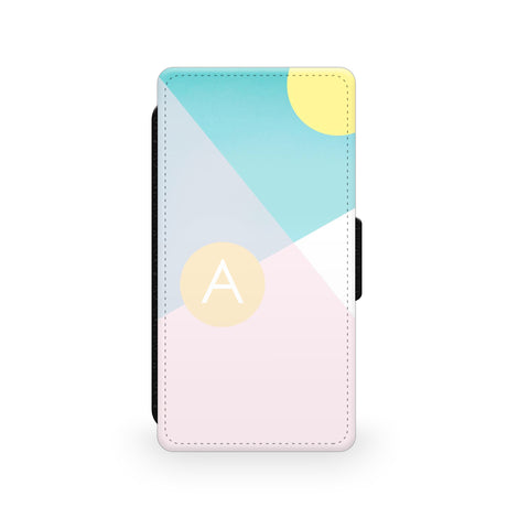 Pastel Shapes Geometric - Faux Leather Case - Ai Printing