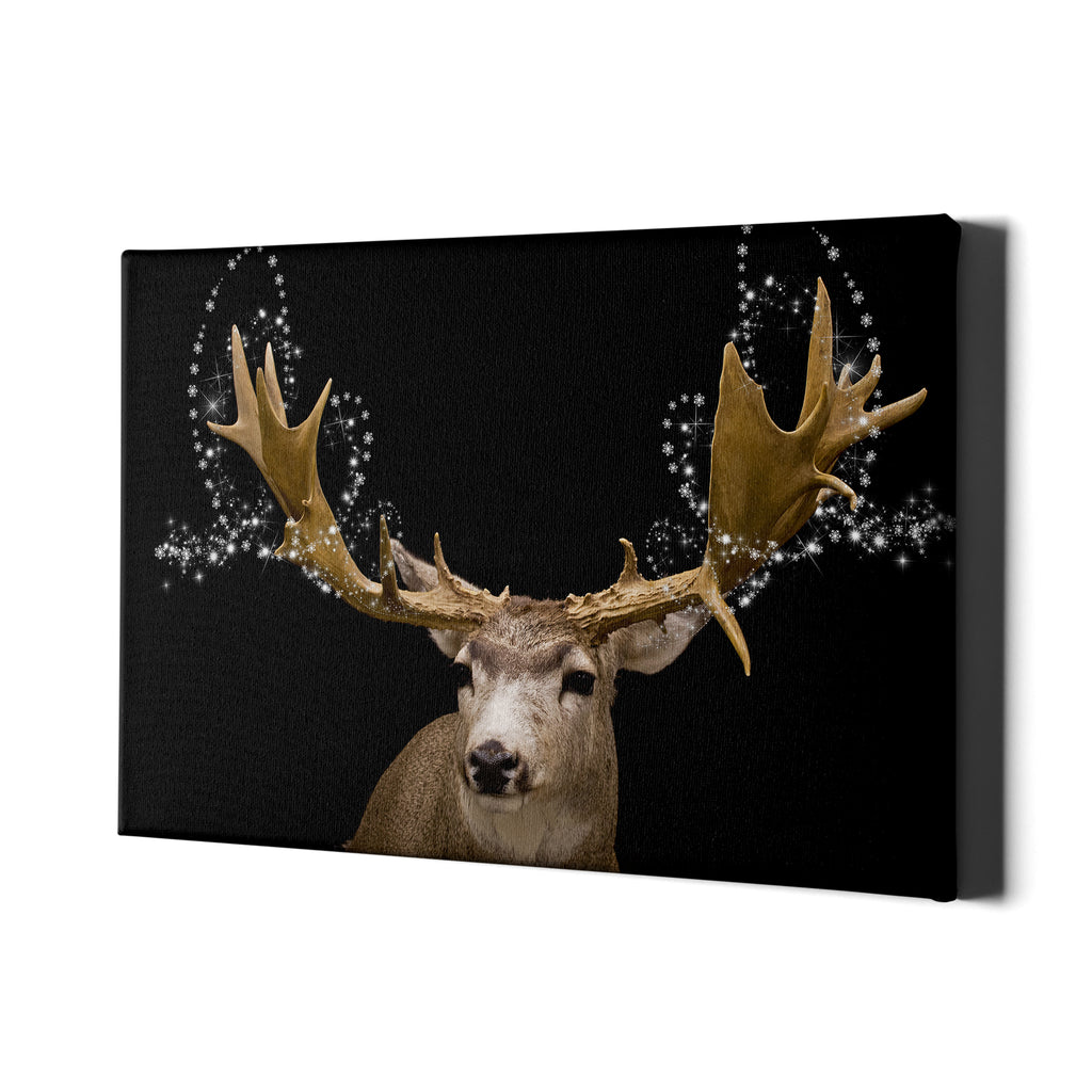 Winter Reindeer - Single Panel Canvas - Landscape - Ai Printing