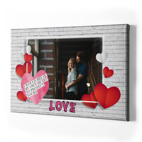 Valentine's Day Single Panel Canvas - Landscape - Ai Printing