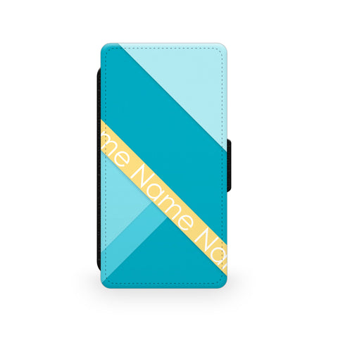 Blue & Yellow Blocks - Faux Leather Case - Ai Printing
