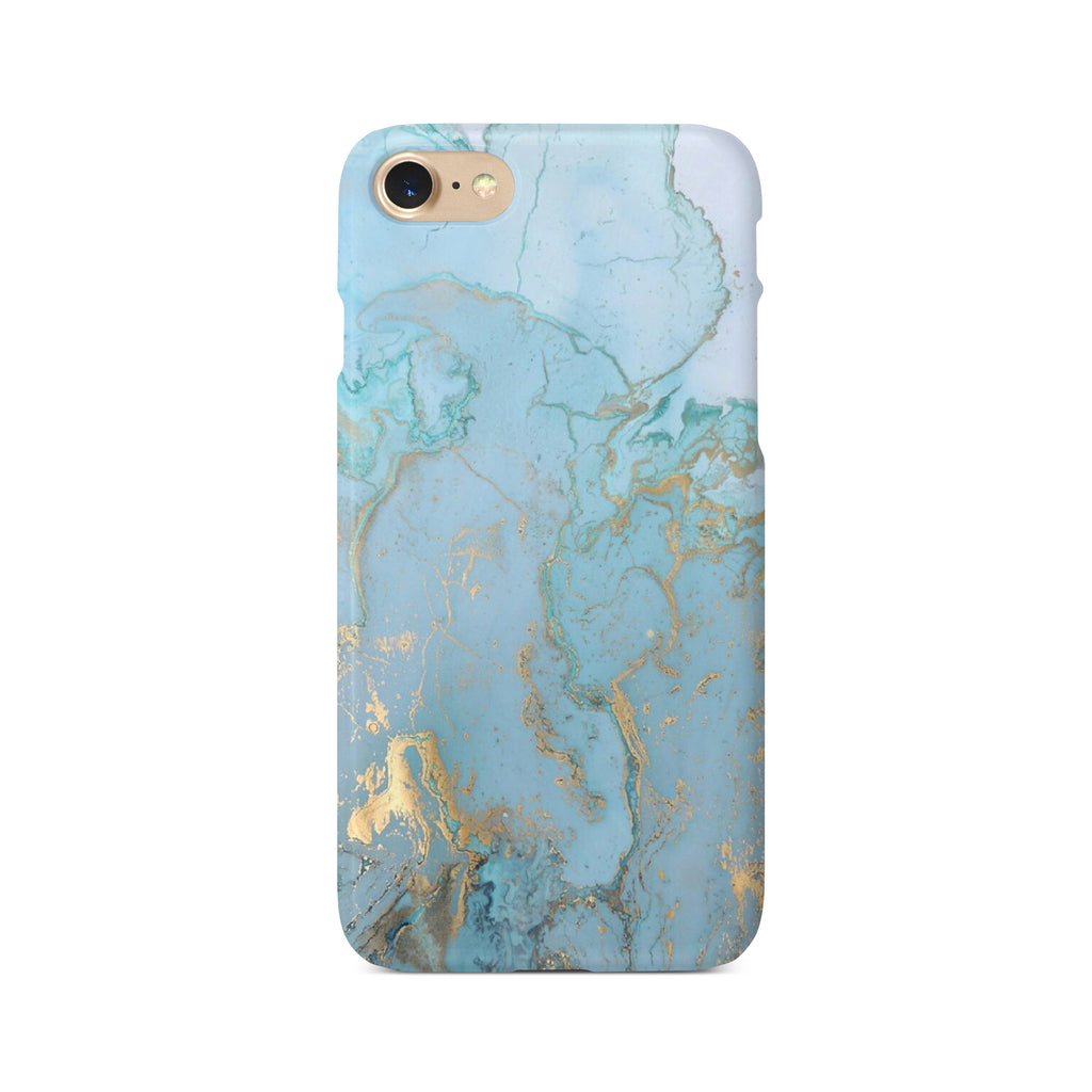 Blue & Gold Marble Effect - 3D Clip Case - Ai Printing