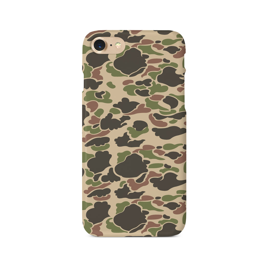 Beige & Green Camouflage Print - 3D Clip Case - Ai Printing
