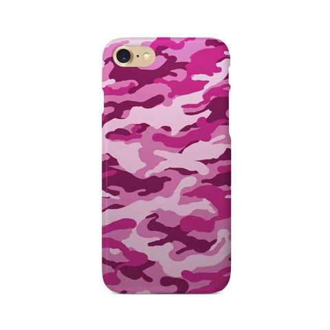 Pink Camouflage Print - 3D Clip Case - Ai Printing