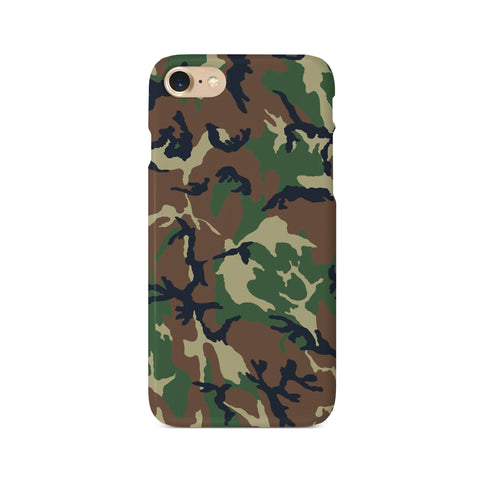 Brown & Green Camouflage Print - 3D Clip Case - Ai Printing