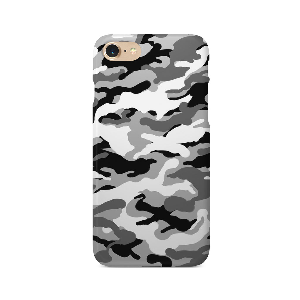 Grey Camouflage Print - 3D Clip Case - Ai Printing