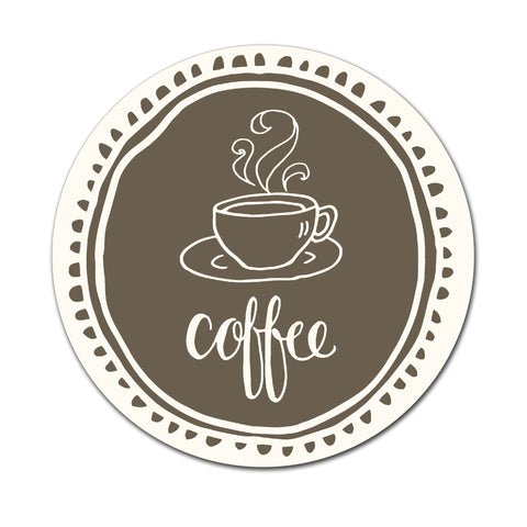 Coffee - Round Coaster - Ai Printing