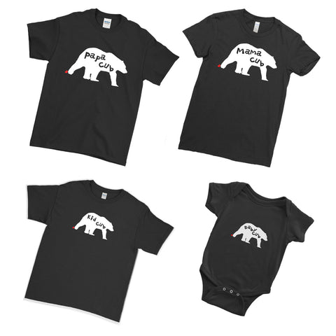 Copy of Positive Battery Level Dad Mommy Kid Baby - Family Matching T-Shirts - Ai Printing