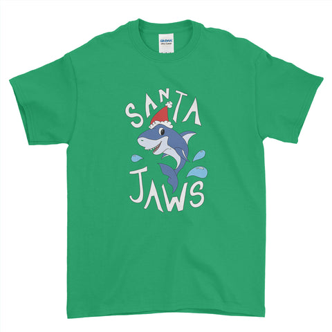 Merry Christmas Santa Jaws Funny Christmas - T-Shirt - Mens - Ai Printing