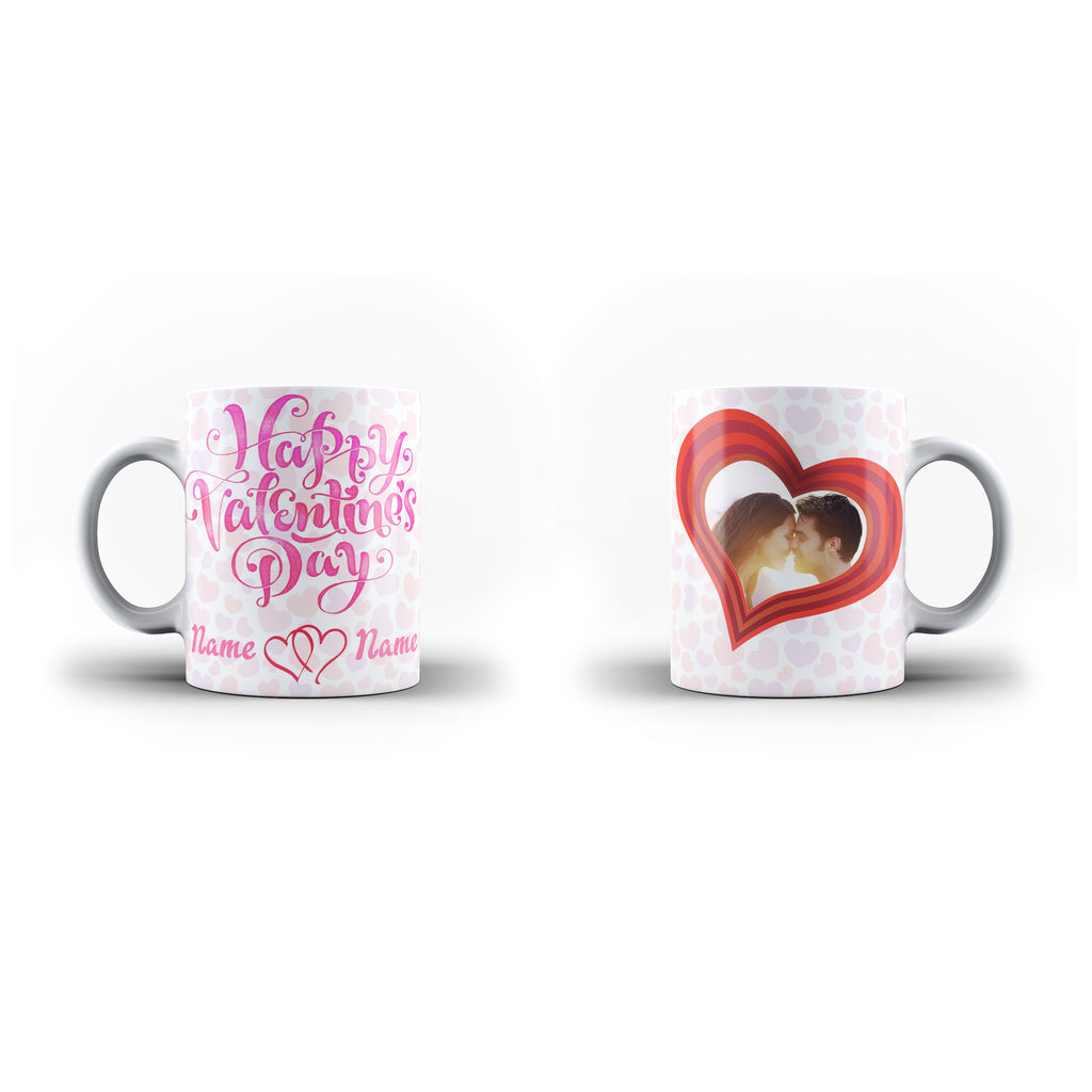 Valentine's Day Gift Mug - Personalised Mug - White Magic Valentine - Ai Printing