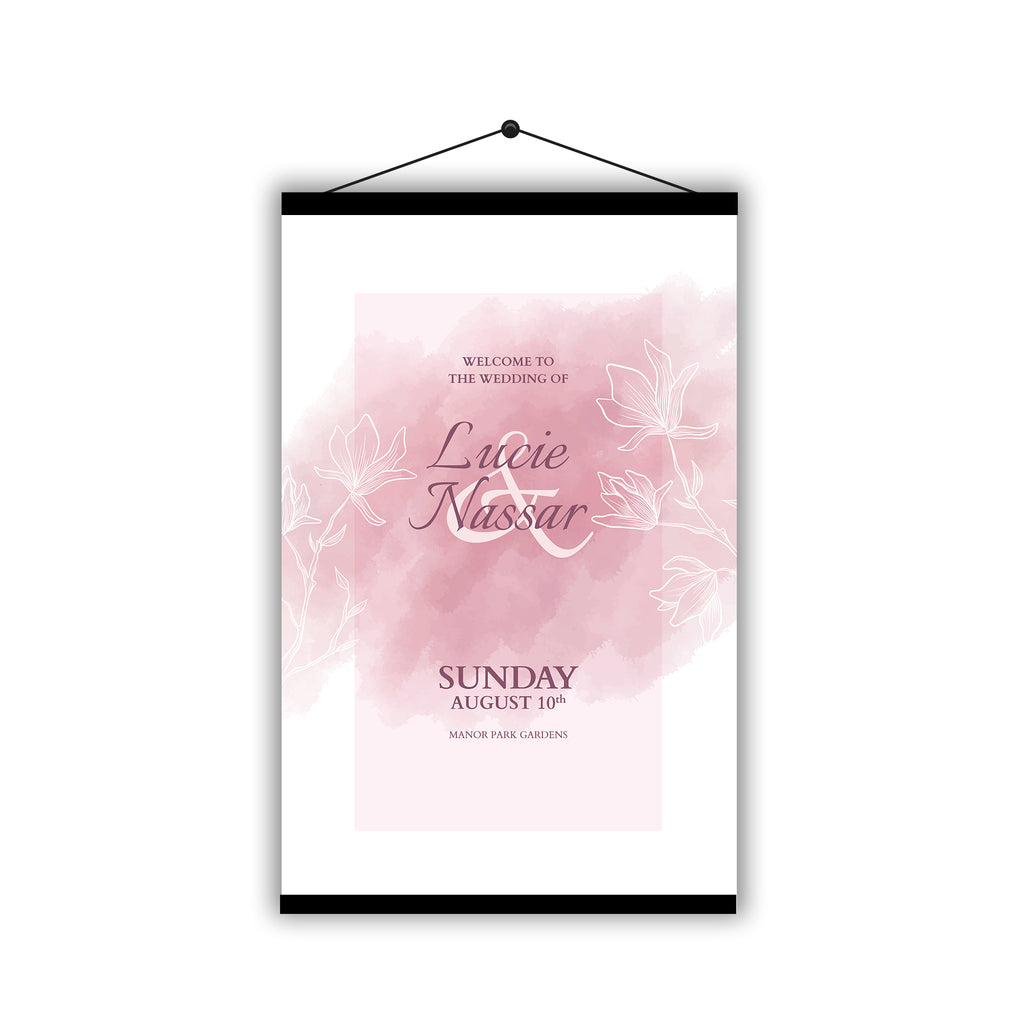Personalised Wedding Welcome Sign Table Plan Planner Programme - Hanging Poster | Ai Printing - Ai Printing