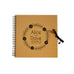 Personalised Wedding Gust Scrapbook Engagement Anniversary - Brown Spiral Bound Kraft Scrapbook - Ai Printing