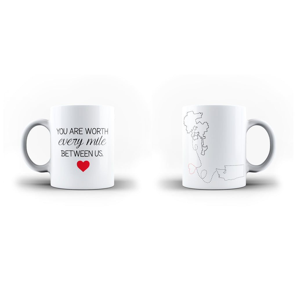 Personalised Location Valentine's Day Gift Mug - Personalised Mug | Ai Printing - Ai Printing