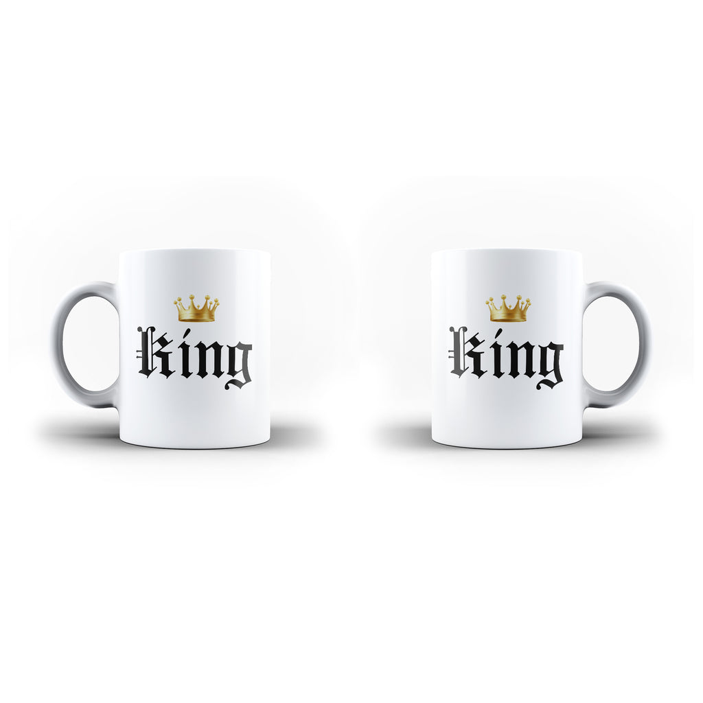The King Queen Valentine's Day Gift Mug - Personalised Mug | Ai Printing - Ai Printing