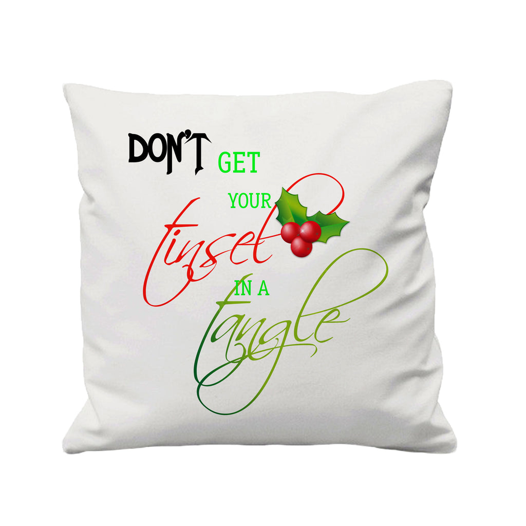 Christmas Tinsel in a Tangle  - Cushion Cover - 41 x 41 cm - Ai Printing