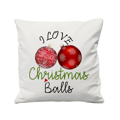 I Love Christmas Balls - Cushion Cover - 41 x 41 cm - Ai Printing