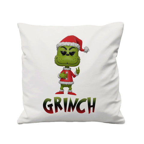 Christmas Grinch Santa Hat - Cushion Cover - 41 x 41 cm - Ai Printing