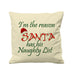 Santa Naughty List  - Cushion Cover - 41 x 41 cm - Ai Printing