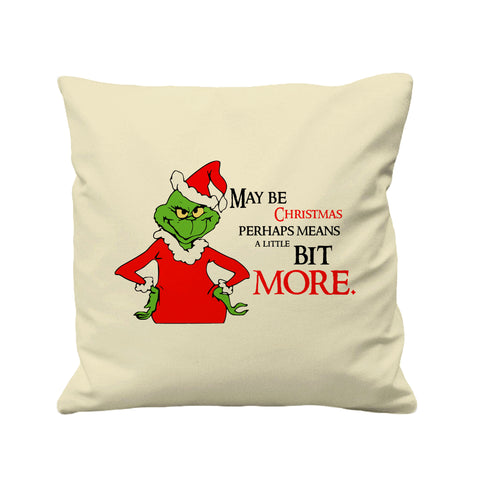 Christmas Grinch Face  - Cushion Cover - 41 x 41 cm - Ai Printing