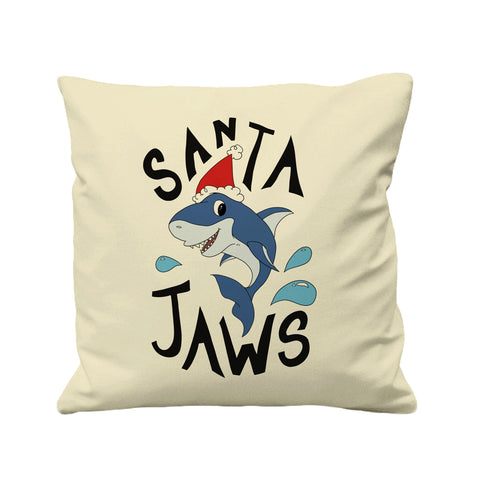 Santa Jaws Christmas Shark - Cushion Cover - 41 x 41 cm - Ai Printing