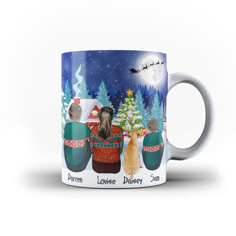 Personalised Family Best Friend Christmas Holiday White Mug - Ai Printing - Ai Printing