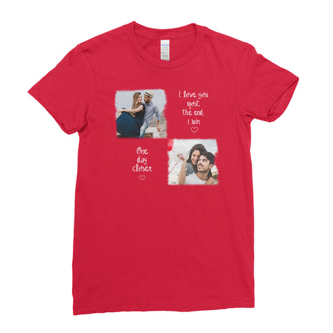 Personalised Photo Lover's T Shirt - Valentine's Day T-Shirt - Women - Ai Printing - Ai Printing