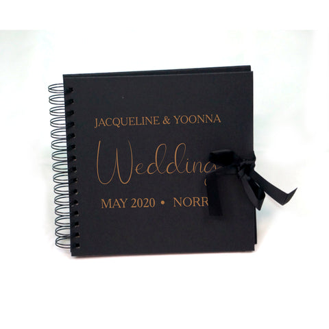 Personalised Wedding Gust Scrapbook Engagement Anniversary - Ombre Spiral Bound Scrapbook - Ai Printing