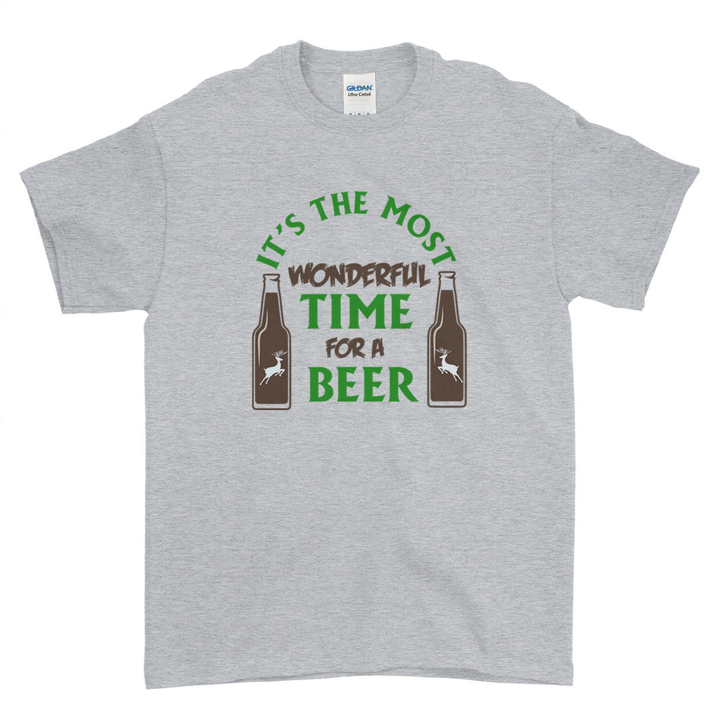 c3c6a1c55 It's the Most Wonderful Time for a Beer Christmas - T-Shirt - Mens