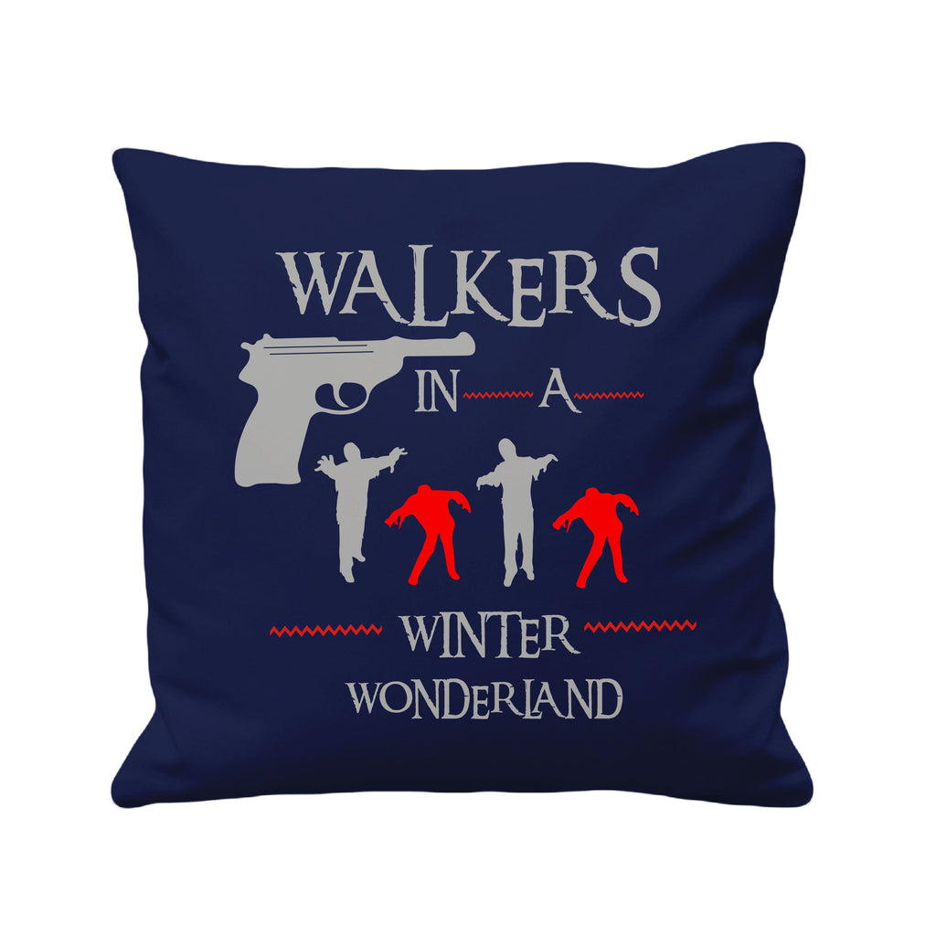 Walkers in a Winter Wonderland - Cushion Cover - 41 x 41 cm - Ai Printing