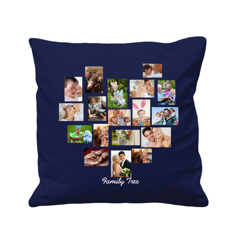 Personalized Photo Collage Family - Cushion Cover - 41 x 41 cm - Ai Printing