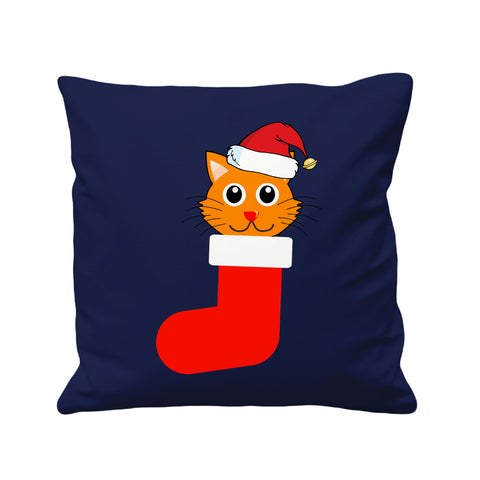 Christmas Santa Cat Hat - Cushion Cover - 41 x 41 cm - Ai Printing