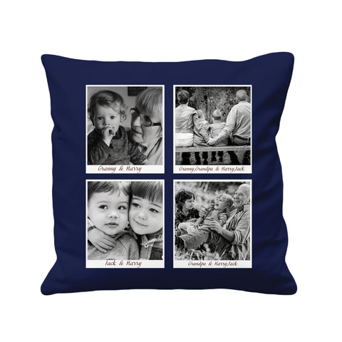 Personalized Photo Collage - Cushion Cover - 41 x 41 cm - Ai Printing