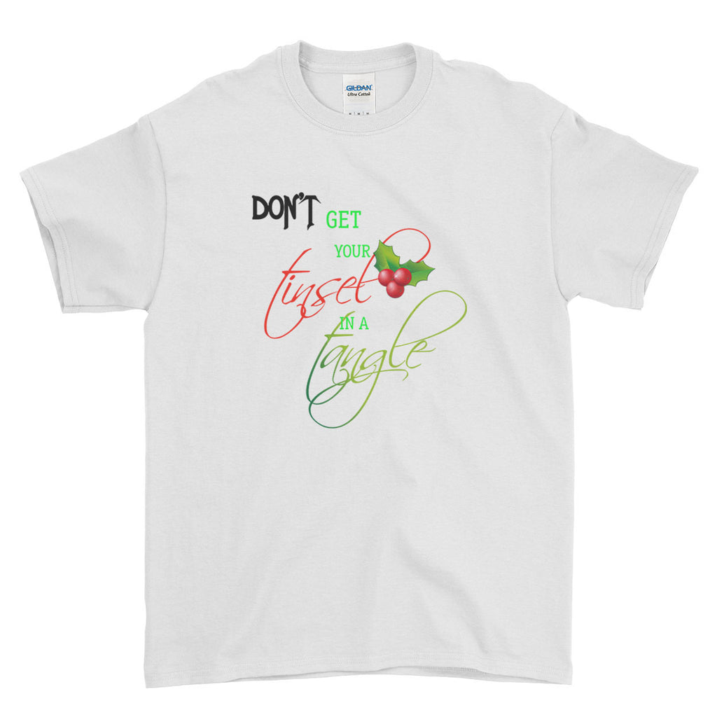 Don't Get Your Tinsel In A Tangle Christmas - T-Shirt - Mens - Ai Printing