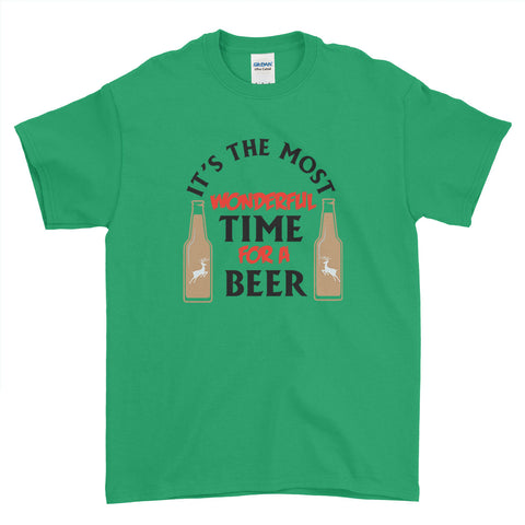 It's the Most Wonderful Time for a Beer Christmas - T-Shirt - Mens - Ai Printing