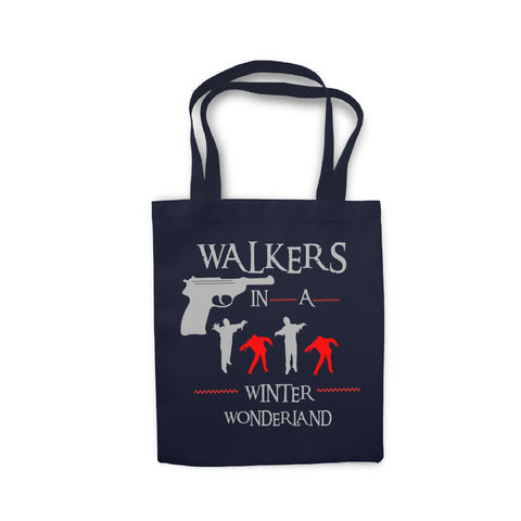 Walkers in a Winter Wonderland - Tote Bag - Ai Printing