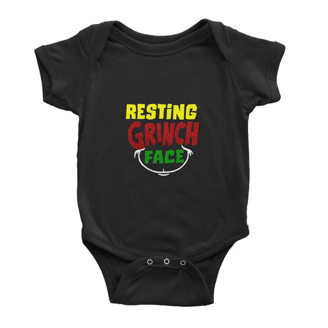 Resting Grinch Face - Baby Bodysuit - Ai Printing
