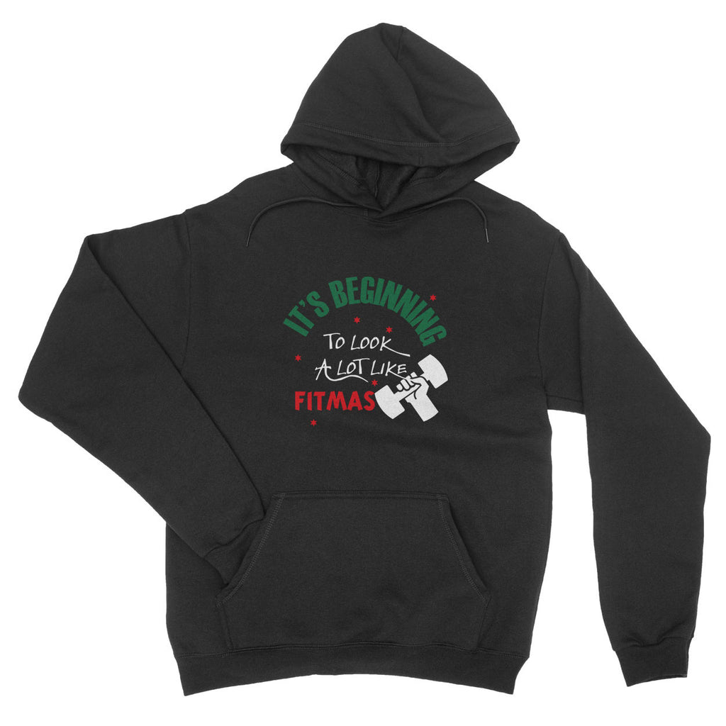 It's Beginning To Look A Lot Like Fitmas Jumper X Mas - Hoodie - Unisex - Ai Printing