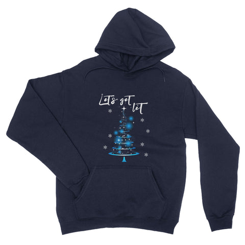 Let's Get Lit Christmas Tree Funny Style Jumper X Mas - Hoodie - Unisex - Ai Printing