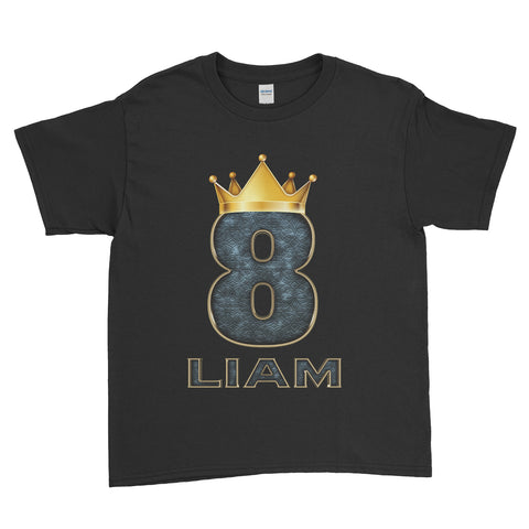 Personalised Name Age King Queen Birthday Kids T-Shirt - Ai Printing