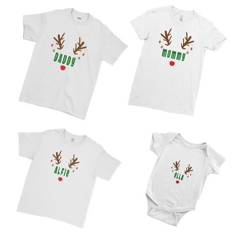 Deer Funny Xmas Marry Christmas - Matching Family Couple T Shirt - Ai Printing