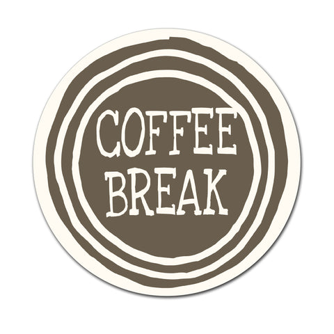 Coffee Break - Round Coaster - Ai Printing