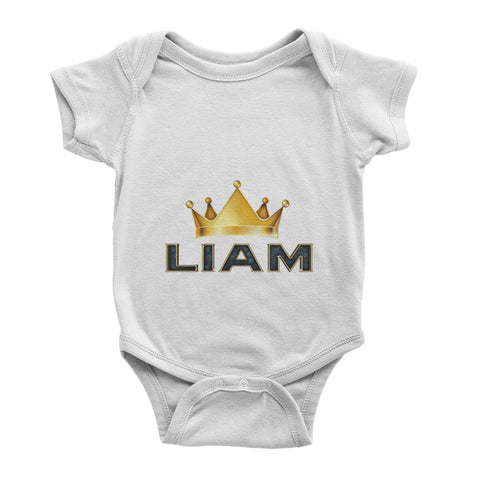 Personalised Name Cute Crown Birthday Shower Gift Baby Vest - Baby Bodysuit - Ai Printing