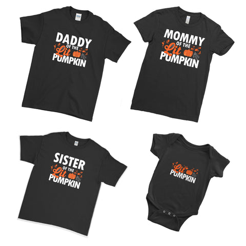 Daddy Mommy of The Little Pumpkin Halloween T Shirts Family Matching Set T-Shirts